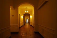 Hotel-Flur Stockfoto