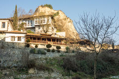 The hotel is at the foot of the mountain in the town of Melnik, Bulgaria Stock Photography