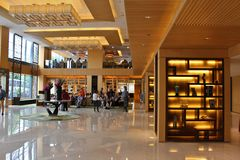 Hotel Foyer Stock Images