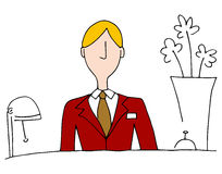 Hotel Front Desk Manager Lizenzfreies Stockfoto