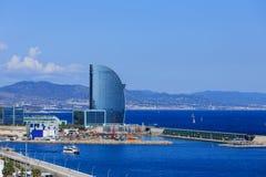 Hotel futurista moderno en Barcelona Fotografía de archivo libre de regalías