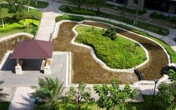Hotel Garden Stock Image