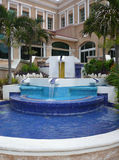 Hotel garden with fountain Royalty Free Stock Images