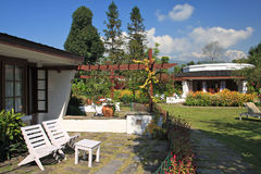 Hotel Garden,Pokhara, Nepal stock photo
