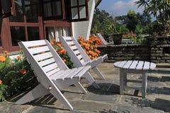 Hotel Garden,Pokhara, Nepal royalty free stock photos