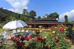 Hotel Garden,Pokhara, Nepal Royalty Free Stock Image