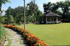 Hotel Garden,Pokhara, Nepal royalty free stock photography