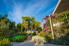 Hotel garden and terrace Royalty Free Stock Photography