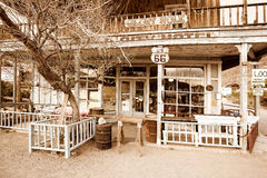 Hotel in a ghost town on route 66 Royalty Free Stock Image