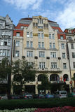 Hotel Golden Goose in Prague Stock Photos