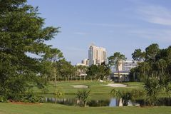 Hotel with Golf Course Stock Photos