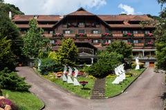 Hotel Gramado Brasil da Dinamarca Montanha das casas Fotos de Stock Royalty Free