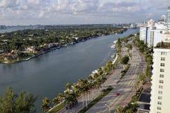 Hotel grande Miami Beach da praia, Florida EUA Fotografia de Stock Royalty Free