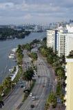Hotel grande Miami Beach da praia, Florida EUA Foto de Stock Royalty Free