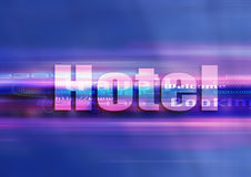 Hotel graphic technology. Internet symbol hotel in a graphic univers Royalty Free Stock Image