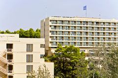 Hotel in Greece - Europe. Luxury hotel in Greece at summer time Stock Photography