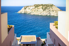 Hotel in Greece royalty free stock photos