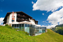 Hotel on a green hill Stock Photography