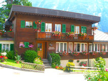 Hotel in Grindelwald Immagine Stock