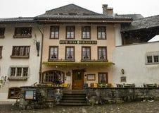 Hotel in Gruyeres, Switzerland royalty free stock photography
