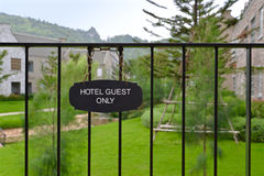 Hotel guest only sign Royalty Free Stock Photos