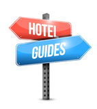 Hotel and guides sign illustration design Stock Photography