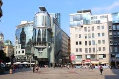 Hotel HAGA y del CO, Stephansplatz, Viena, Austria Foto de archivo