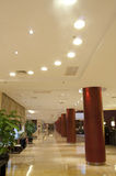 The hotel hall. A bright hall of a hotel Royalty Free Stock Photography