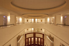 Hotel hall. Baeutiful Hotel hall with hotel rooms Stock Image