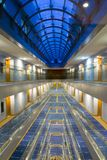 Hotel hall. View hotel hall in blue colors Stock Image