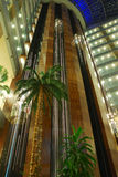 Hotel hall. And view elevators Stock Photography