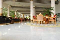 Hotel hall. Luxury hotel lobby hall interior Stock Photo