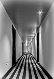 Hotel hall. An empty hotel hall with star-shaped lights Stock Photos