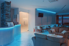 Free Hotel Hall Interior In Blue Stock Photo - 71759740