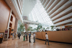 Hotel hall Marina Bay Sands Royalty Free Stock Image