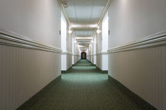 Hotel hallway royalty free stock photography
