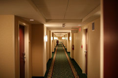 Hotel Hallway Royalty Free Stock Photos