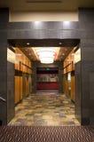 Hotel hallway stock images