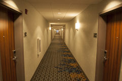 Hotel Hallway. An image of a hotel hallway stock images