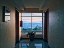 Hotel hallway Stock Photo