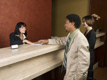 Hotel - handelsreiziger Stock Fotografie