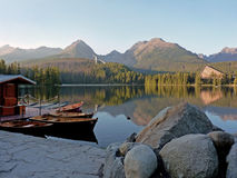 Hotel and harbour in The High Tatras Royalty Free Stock Images