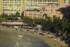 Hotel hawaiano real fotografía de archivo