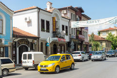 The hotel is in the heart of the Bulgarian town of Karlovo Stock Images