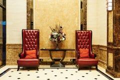 Hotel het wachten zaal Royalty-vrije Stock Foto's