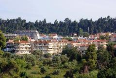 Hotel on high coast royalty free stock photos