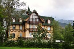 Hotel in high tatras Royalty Free Stock Photos
