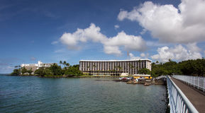 Hotel in Hilo with view to the bay Stock Photography