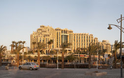 Hotel Hilton Eilat Queen of Sheba. Eilat, Israel - December 12, 2011: Hotel Hilton Eilat Queen of Sheba, evening Royalty Free Stock Image