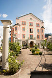 Hotel Hirsch in Fuessen. FUESSEN, GERMANY - AUGUST 22: The Hotel Hirsch in Fuessen, Germany on August 22, 2015. Fuessen is known for its violinmaking industry Royalty Free Stock Images